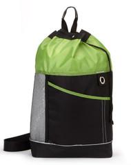 Gemline Front Pocket Sport Tote Bag - Black