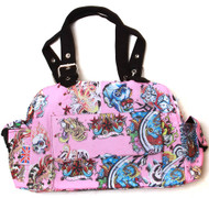 Clover One Front Pocket Hand Bag - Pink Hard Style Tattoo