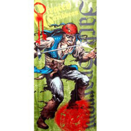 Disney Pirates of the Caribbean Captain Jack Sparrow Cartoon Beach Towel