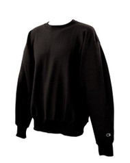Champion Adult Reverse Weave Crew Sweatshirt, Black