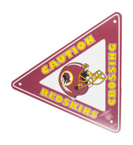 Caution Redskins Crossing Triangle Sign