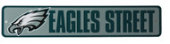 Philadelphia Eagles Street NFL Street Sign, Green