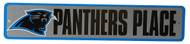 Carolina Panthers Place NFL Street Sign, Gray Blue