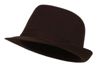 Womens Brown Lined Fedora