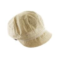 Top Headwear Lace w/ Stone Button Newsboy Cap