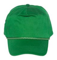 Cotton Twill Golf Cap - Kelly