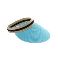 Top Headwear Paper Braid Visor Sun Hat