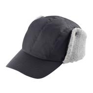 WAXED COTTON CANVAS CAP W/ SHERPA EARFLAP