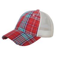 LOW PROFILE (UNSTRUCTURED) PLAID MESH CAP