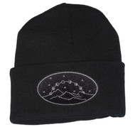 Gravity Threads Mountains and Moon Cycle Cuffed Beanie