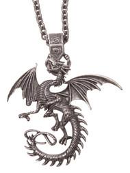 Medieval Dragon Pendant Necklace