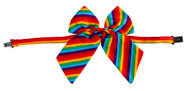 Rainbow Stripe Long Bow Necktie