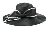 ChicHeadwear Elegant Side Bow Stone Trim Braid Hat