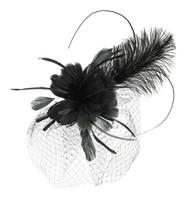 Chic Headwear Feather Headband w/ Long Feather