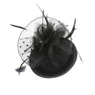Chic Headwear Mesh Feathered Flower 50s Mini Hat