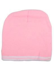 Top Headwear Striped Short Beanie