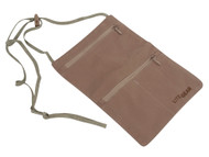 Lite Gear RFID-Soft Neck Wallet, Tan, One Size