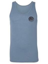 Gravity Outdoor Co. Circle Pocket Logo Triblend Tank Top