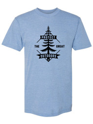 Gravity Outdoor Co. Protect the Great Outdoors USA Made Tri-Blend T-Shirt