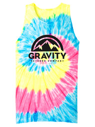 GOC Mountain Water-Based Mens Tie-Dye Tank Top