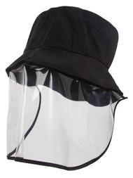 Top Headwear Bucket Hat Face Shield - Black