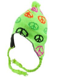 Top Headwear Peruvian Chullo Hat - Peace