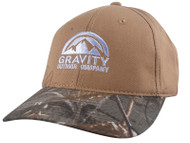 Gravity Outdoor Co. Logo Fishing Bass Two-Tone Realtree Adjustable Baseball Cap