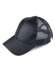 CC Kids Ponytail caps Messy Buns Trucker Plain Baseball Cap