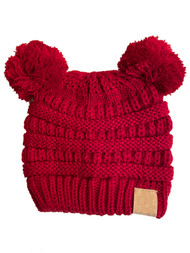 Gravity Threads Exclusives Baby Double Pompom Knitted Beanie