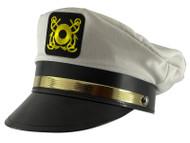 Men's Adult Yacht Cap - White