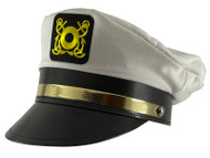 Men's Adult Yacht Cap - White