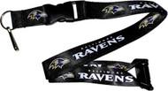 Baltimore Ravens Deluxe Breakaway Lanyard - Black