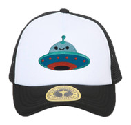 Gravity Trading UFO Smiley Face Patch Trucker Hat