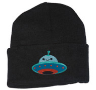 Gravity Threads UFO Smiley Face Patch Cuffed Beanie