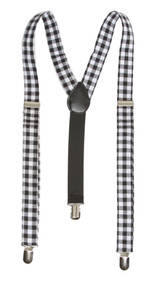 Plaid 3 Clip Stretchable Suspenders 2 pack
