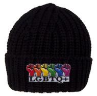 Gravity Trading LGBTQ+ Rainbow Fists Knitted Cuffed Beanie