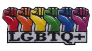C&D Visionary LGBTQ + Rainbow Fists Patch