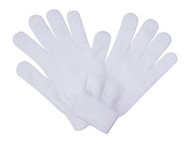 Solid White Full Finger Gloves