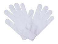 Solid White Full Finger Gloves