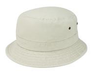 WASHED BUCKET HAT BEIGE