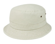 WASHED BUCKET HAT BEIGE, Small Medium