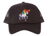 Rainbow Unicorn Patch Trucker Foam Panel Hat