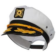 Cotton Yactht Emblem Cap - White