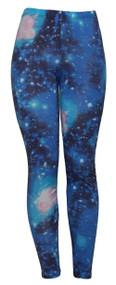 Blue Space Ladies Leggings Tights