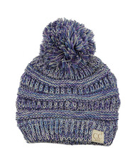 C.C Kids' Cute Warm and Comfy Pom Pom Children's Knit Ski Beanie Hat