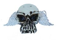 Rest In Peace Skull Winged Design Steel Belt Buckle