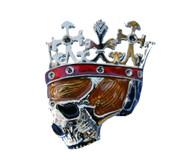 Crowned Skull King Belt Buckle