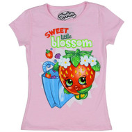 Shopkins Little Girls Sweet Little Blossom Strawberry Kiss T-Shirt