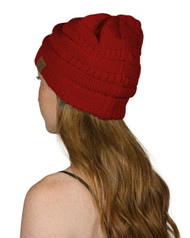 C.C Women's Thick Knit Beanie,  Red