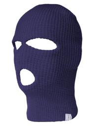 Ski Face Mask Knit Beanie Biker Snowboard 3 Holes, Navy